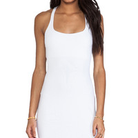 "Susana Monaco Racer Mini Dress 18"" in White"