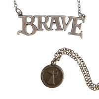 Disney Brave Logo Necklace Set