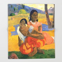 Affordable Art $300,000,000 When Will You Marry by Paul Gauguin Throw Blanket by podartist
