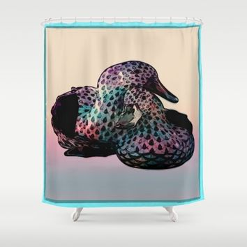 duck Shower Curtain by Jessica Ivy