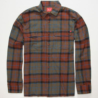 Lost The Plaid Mens Flannel Shirt Brown  In Sizes