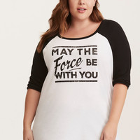 Her Universe Star Wars May the Force Raglan Tee