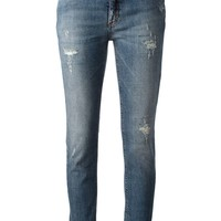 Victoria Beckham Denim ripped slim fit jeans