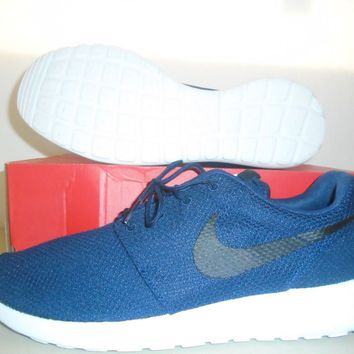 New Nike Roshe One Navy Blue White Running Shoes sz 12
