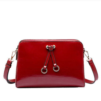 Stylish Ladies Messenger Bag Leather Bag Shoulder Bag [6582952071]