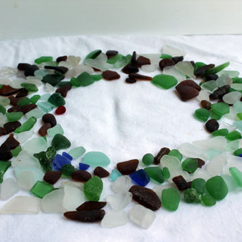 Beach Glass Sea Glass Lot-Mosaics-Jewelry Supplies-Craft Supplies-Nautical Decor-Genuine Surf Tumbled-Lake Erie