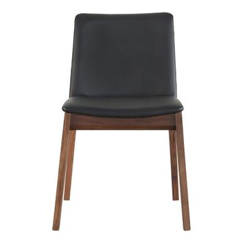 Deco Dining Chair Black Pvc-Set Of Two