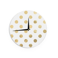 "KESS Original ""Scattered Gold"" Metallic Wall Clock"