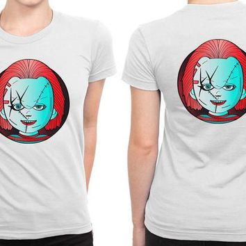VONEED6 Horror Icons Chucky Childs Play B 2 Sided Womens T Shirt