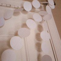 White Paper Circle Garland Perfect for Weddings, Bridal or Baby Showers, Birthdays, Parties, Any Occasion, 10 Feet Long!