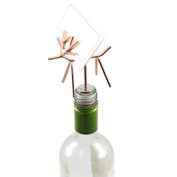 Reindeer Wine Stopper - Copper