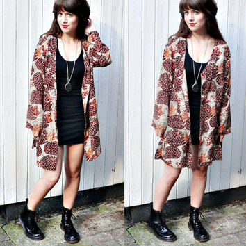 TRIBAL DUSTER JACKET//90s tribal duster 90s by princesstoadie