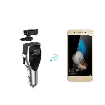 3-in-1 Wireless Bluetooth Earbuds Headphone and Car Charger plus Dual USB1