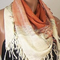 Open Weave Scarf with Lurex