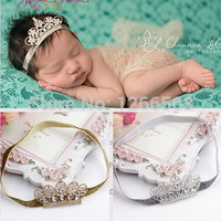 Lovely Princess Crown Headband Baby Girl Tiara Headband Elastic Hair Band,Newborn Toddler Photo Prop Hair Accessories