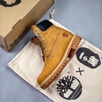 Bape X Undefeated X Timberland Wheat Waterproof Boots - Best Online Sale