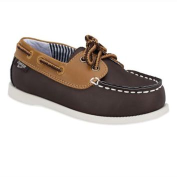 OshKosh B'gosh® Boat Shoe in Dark Brown/Tan