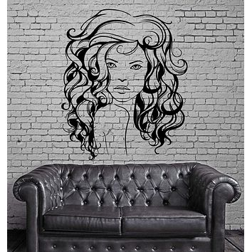 Beauty Salon Hair Hairstyle Stylist Sexy Woman Wall Sticker Vinyl Decal Unique Gift (ig2099)