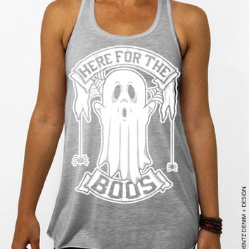 Here for the Boos – Flowy Tank Top