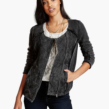 Lucky Brand Quilted Moto Womens - Caviar