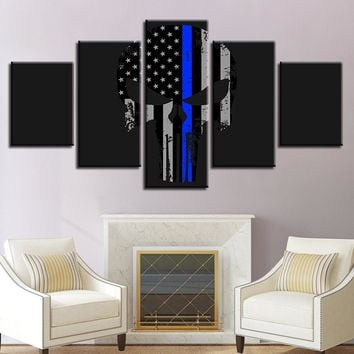 The Punisher Blue Canvas