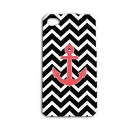 Cute Custom Anchor Phone Case Beautiful Chevron Cover iPhone Cool Black White