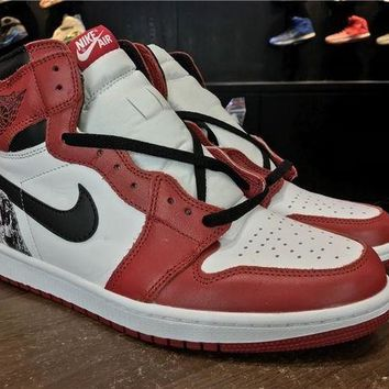 DCCKL8A Jacklish Custom Chicago Air Jordan 1 Retro Hi Og Crucial Last Shot For Sale