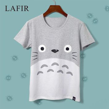 Harajuku Kawaii Cat Totoro T-Shirt Female  Summer Short Sleeve Cotton T shirt Women Tops Graphic Tee Shirt Femme Tshirt