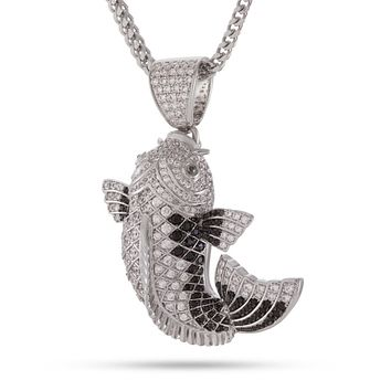 The Matsuba Koi Fish Necklace (Silver and Black)