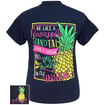 Girlie Girl Originals Preppy Pineapple Stand Tall T-Shirt