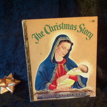 The Christmas Story A Golden Book 1952 Antique 1st