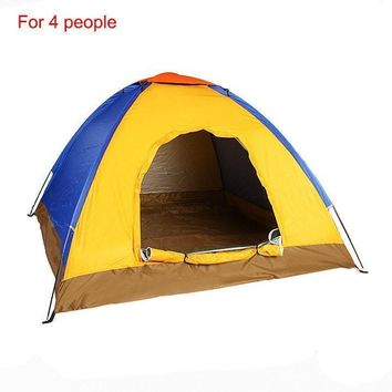 Waterproof UV Outdoor Hiking Tents 4 person with Carrying Bag