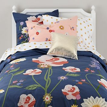 Floral Bouquet Girls Bedding in Girls Bedding | The Land of Nod