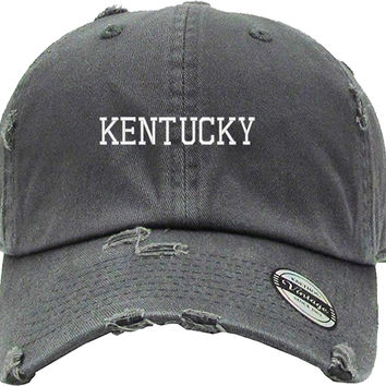 KENTUCY Distressed Baseball Hat