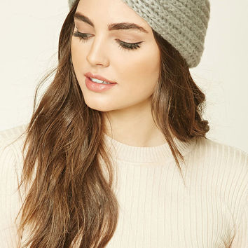 Ribbed Knit Crisscross Headwrap