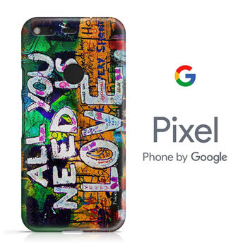 The Beatles Graffiti - All You Need Is Love Google Pixel Phone 3D Case