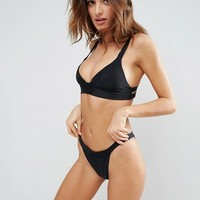 South Beach Mix & Match Fixed Triangle Bikini Top at asos.com
