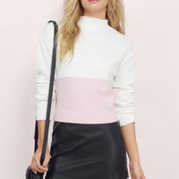 Adira Colorblock Knit Sweater $36