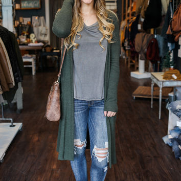 Winter Wonderland Cardigan - Olive