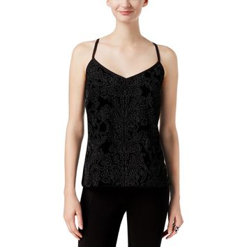 INC Womens Velvet Embroidered Tank Top