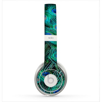 The Neon Multiple Peacock Skin for the Beats by Dre Solo 2 Headphones