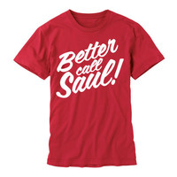 Better Call Saul BREAKING BAD Unisex T-Shirt Red Unisex tee Saul Goodman Funny Lawyer Shirt