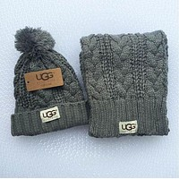 DCCKHQ6 UGG Fashion Winter Knit Women Men Beanies Scarf &Cap
