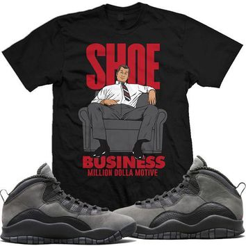 Jordan Retro 10 Shadow Sneaker Tees Shirt - SHOE BUSINESS