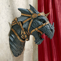 Park Avenue Collection War Dragon Wall Statue