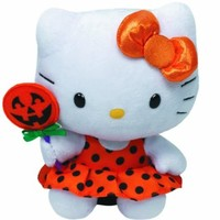Ty Hello Kitty - Orange Halloween Dress
