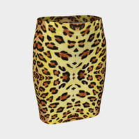 Leopard fur Fitted Skirt Fitted Skirt