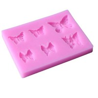 DIY Butterfly Shape Red 3D Silicone Cake Mold Cupcake 1PC