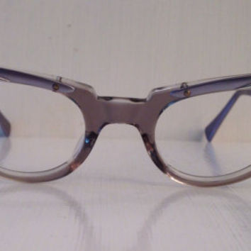 Vintage eyewear. Cat eye style. American Optical. Made in the USA. 1960's. Hipster. Artist. Rockabilly. Techie. Mid Century.