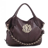 Conceal Carry Purse - Monogram CCW - Concealed Carry Handbag - Hobo Bag - Brown Hobo Purse - Vegan - Personalized Purse